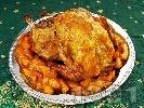 Рецепта Печена пълнена пуйка с плънка от задушени във вино ябълки, лук и чесън на фурна по австрийски
